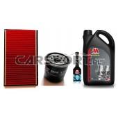 Pakiet olejowy Millers CFS 10w60 + filtry KNECHT + płukanka