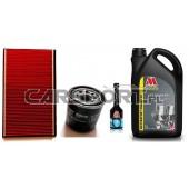 Pakiet olejowy Millers CFS 10w60NT + filtry KNECHT + płukanka
